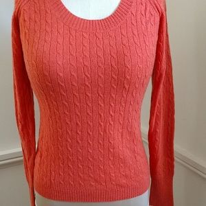 NEW 2ply CASHMERE Cableknit Sweater Kenar